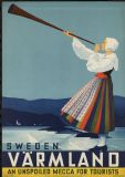 Sweden Varmland, Unspoiled Mecca for Tourists - Vintage Swedish Travel Print/Poster. Sizes: A4/A3/A2/A1 (003442)